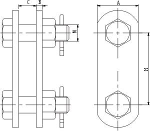 P型平行挂板规格图纸和尺寸数据